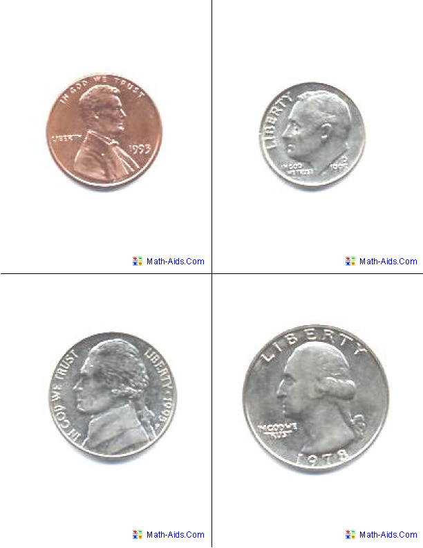 U.S.A. Coins Flash Cards