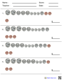 US Coin Counting Large Spacing