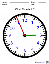 Clock Face Lesson Plan Worksheets