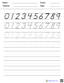 Writing Numbers Kindergarten Worksheets