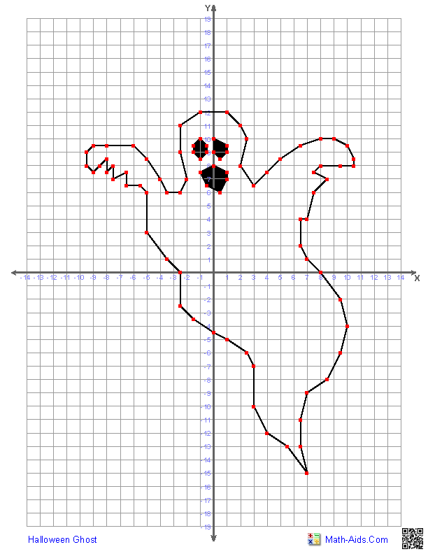 Halloween Math Coordinate Graphing Pictures Ordered Pairs {Mystery ...