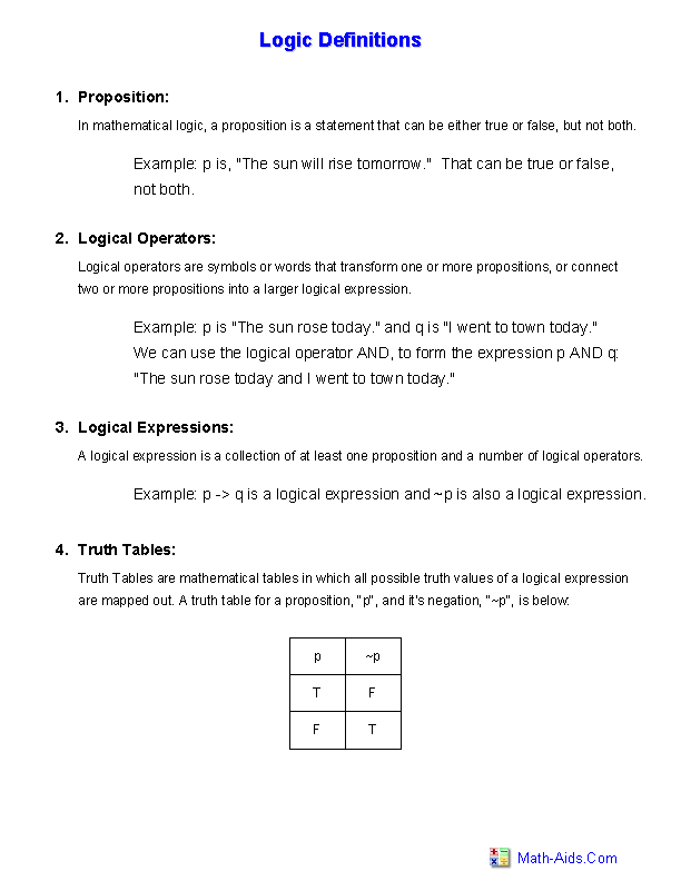 Logic Worksheets Dynamic Logic Worksheets For Teachers