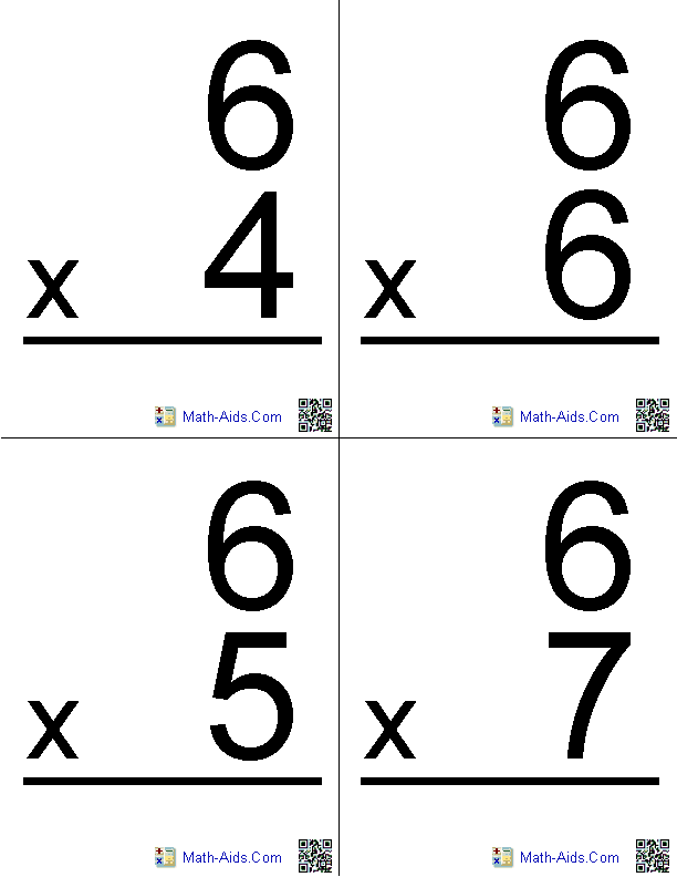 photo regarding Printable Times Table Flash Cards called Math Worksheets Dynamically Built Math Worksheets