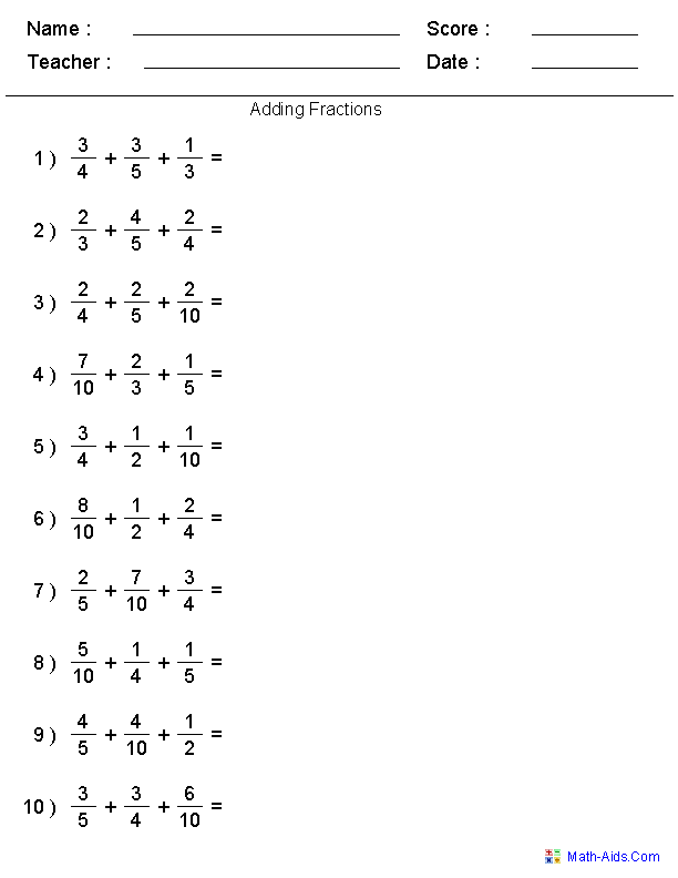 Fractions Worksheets – Fraction Worksheets Grade 5