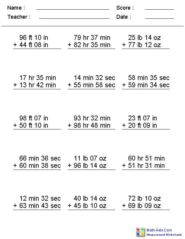 Measurement Worksheets – Ruler Measurement Worksheets