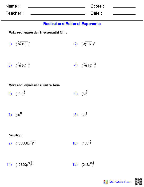 Printables Algebra 2 Functions Worksheet algebra 2 worksheets radical functions worksheets