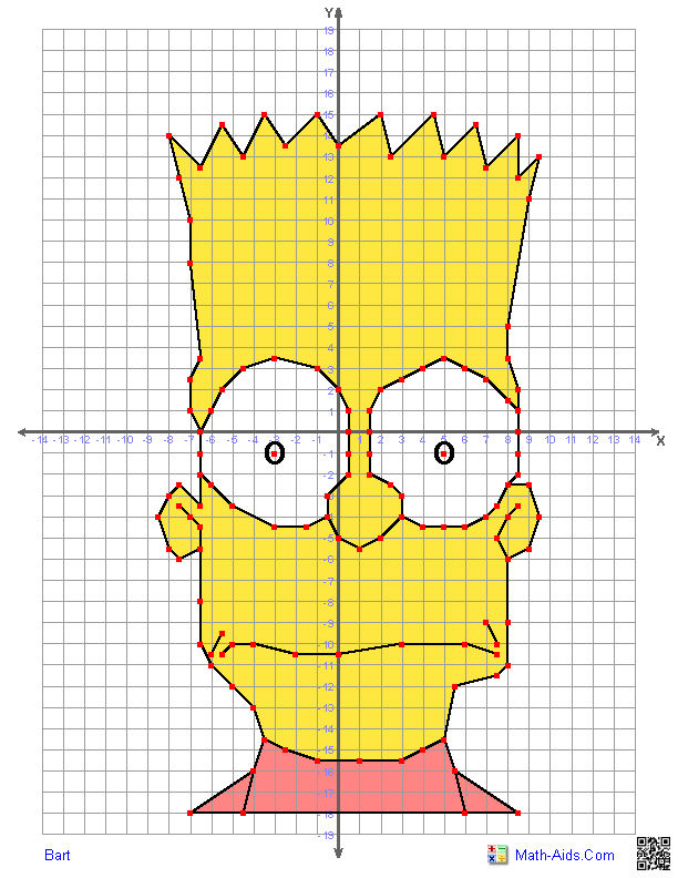 Graphing Worksheets Four Quadrant Graphing Characters