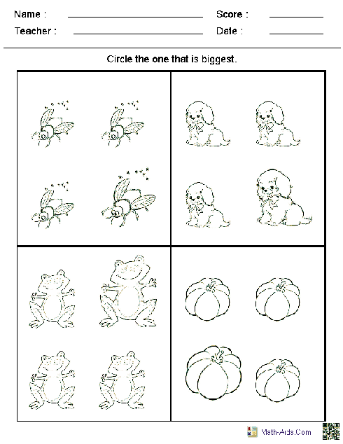 Kindergarten Worksheets | Dynamically Created Kindergarten Worksheets