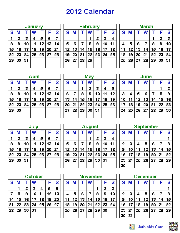 Make a Calendar Worksheets