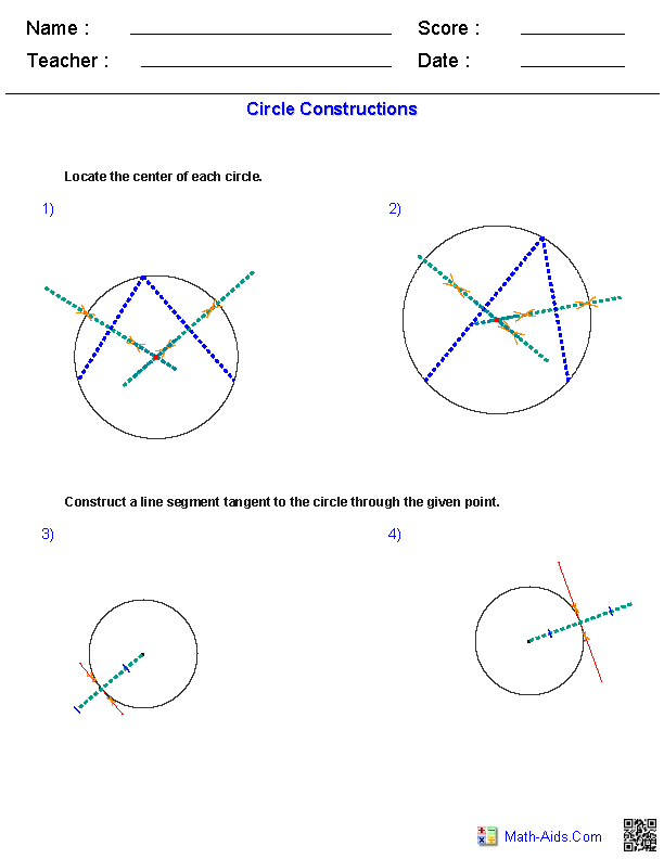Geometry Worksheets Constructions Worksheets Geometry Constructions Worksheet Co Circle Construction Worksheets