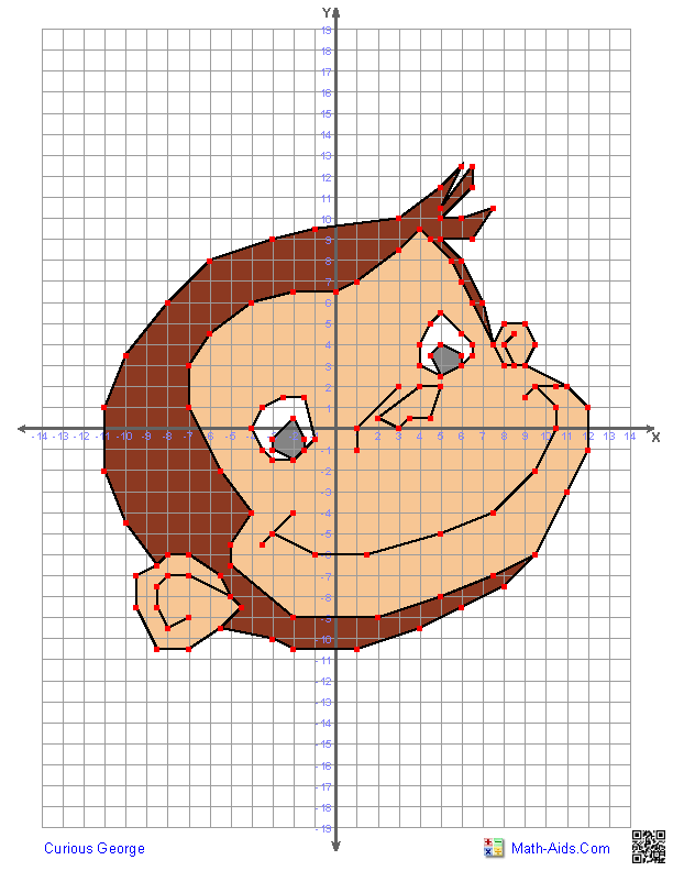 Coordinate Graphing Worksheets Cartoon Characters Moreover Coordinate ...