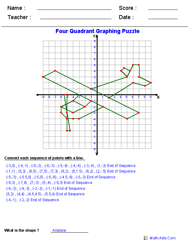 Easter Coordinate Graphing Worksheets | Free Printable Math Worksheets ...