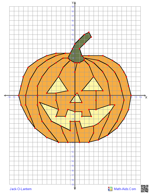 Printables Graphing Pictures Worksheets graphing worksheets four quadrant characters jack o lantern