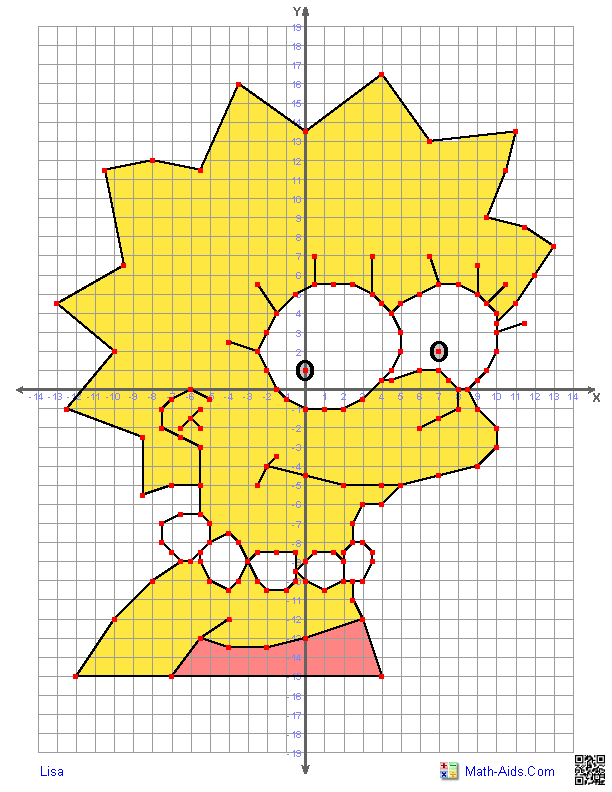 Free coloring pages of coordinate plane drawing