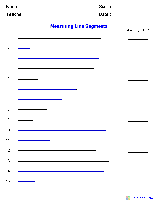 Segments And Their Measures Worksheet: geometry worksheets coordinate worksheets with answer keys,