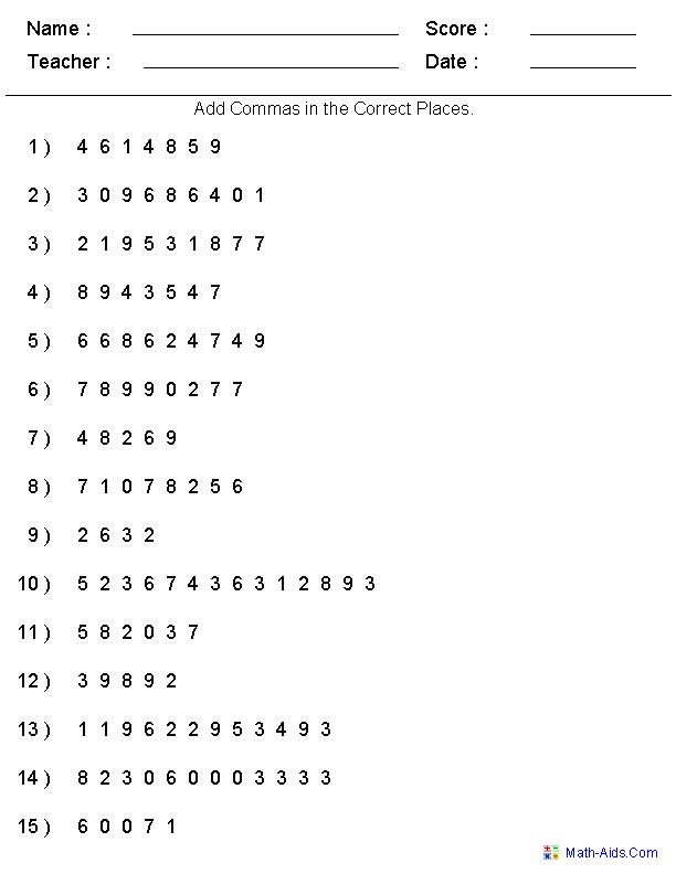 Place Value Worksheets For 2Nd Grade – Math Worksheet Place Value