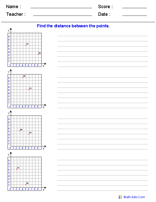 Geometry Worksheets – Ordered Pair Worksheets
