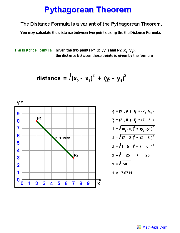 Printable Worksheets grade 1 theory worksheets : Pythagorean Theorem Worksheets | Practicing Pythagorean Theorem ...