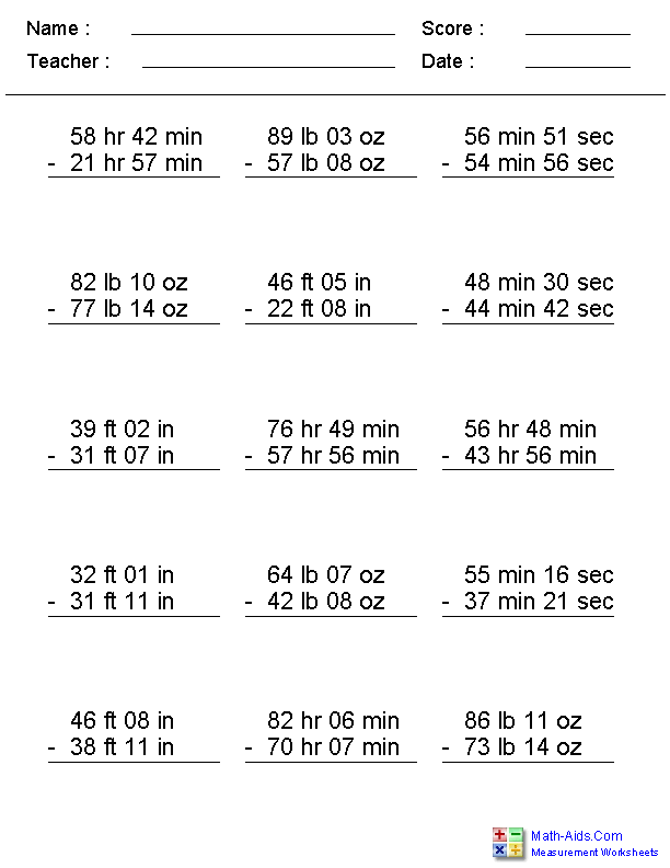 Printables Tape Measure Worksheets measurement worksheets dynamically created worksheets