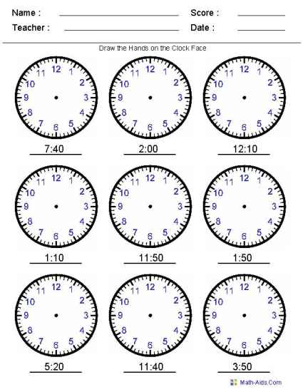 Printable time worksheets for learning how to tell the time ...